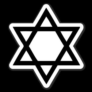 Star Of David Jewish Black