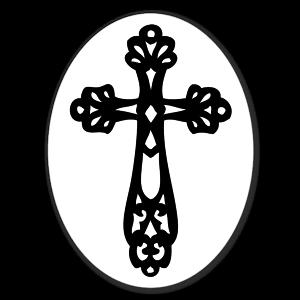 Ornate Cross sticker