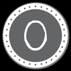 Lettre O sticker