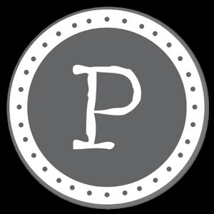 Monogram Gray P