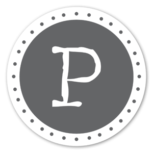 Monogram P Klistermärken