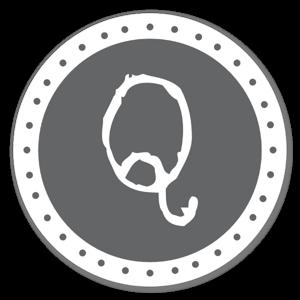 Monogram Gray Q