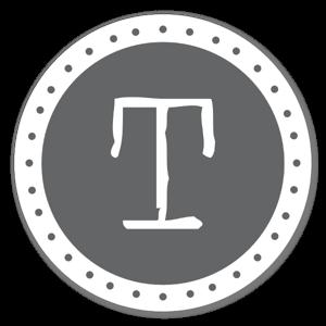 T monogram  sticker