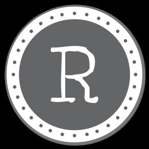 Monogram R Klistermärken
