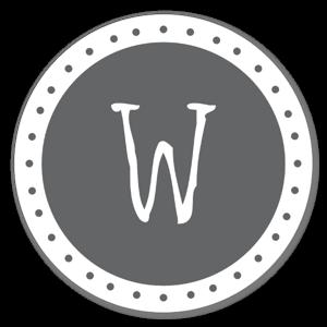 Lettre W sticker
