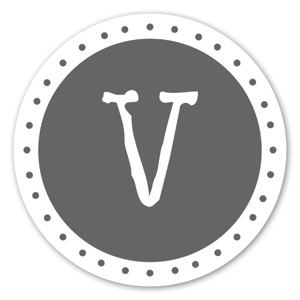 Lettre V sticker