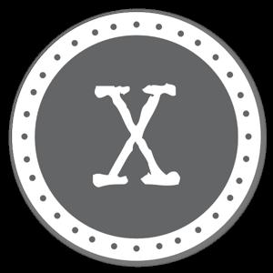 Monogram Gray X Etiketter