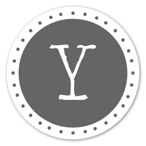 Monogram Gray Y Etiketter