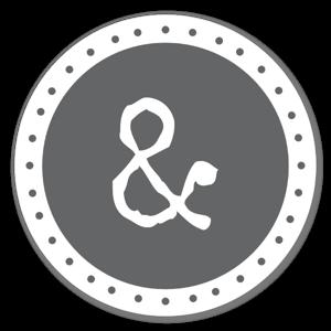 & monogramme sticker