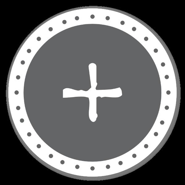 Monogram grå + sticker