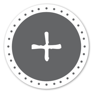 + monogramme sticker