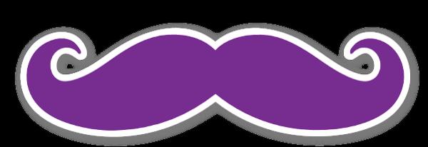 Mustache Purple sticker