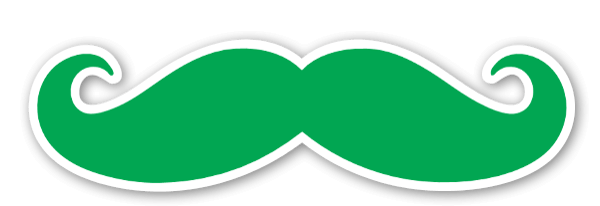 Mustache Green etiketter
