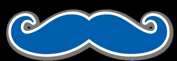 Mustache Blue sticker