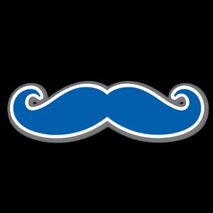 Mustache Blue etiketter