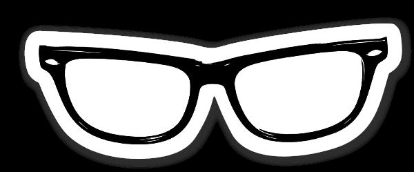 Hipster Eye Glasses Black etiketter