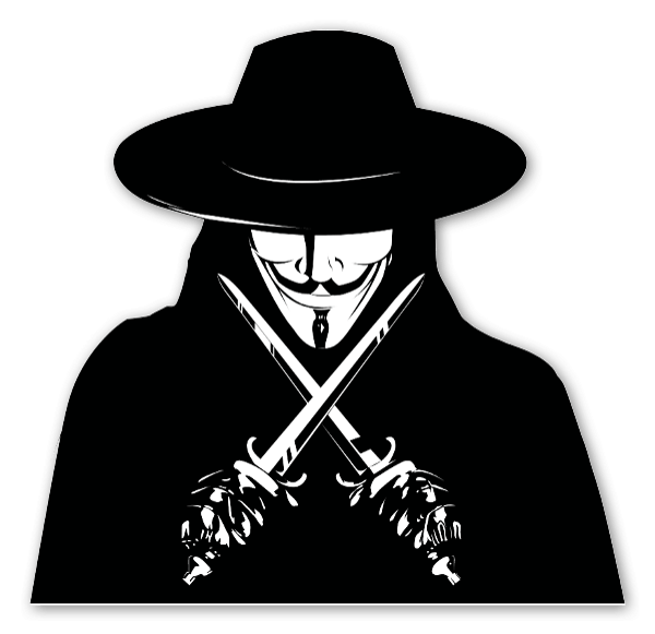 V pour vendetta sticker