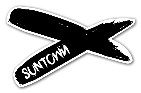 Suntown brushed sticker