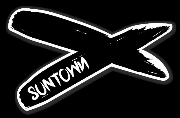 Suntown brushed sticker