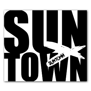 Suntown black custom stickers