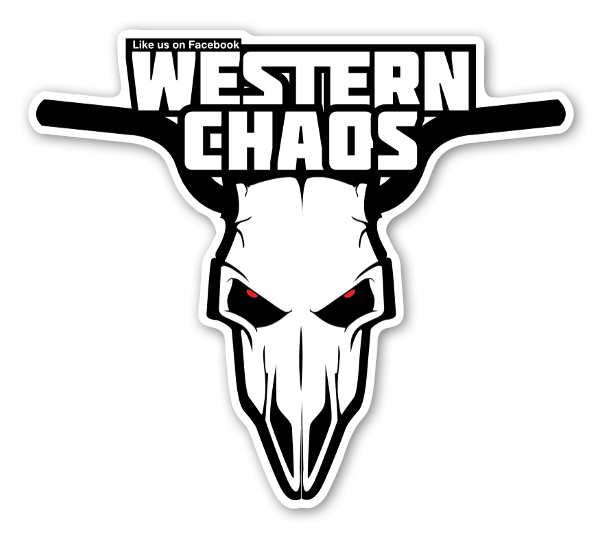 Wester Chaos like on fb head sticker