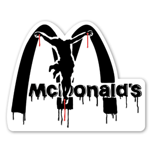 Raid McRucifixion sticker