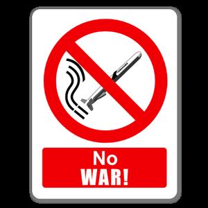 Raid No War sticker
