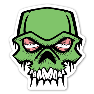 Bobby Green Skull stickers decals