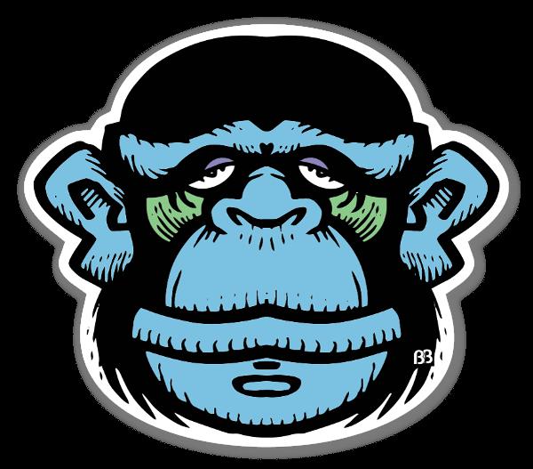 Bobby Blue Monkey sticker