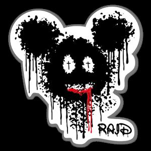 Kill Mickey by Raid sticker