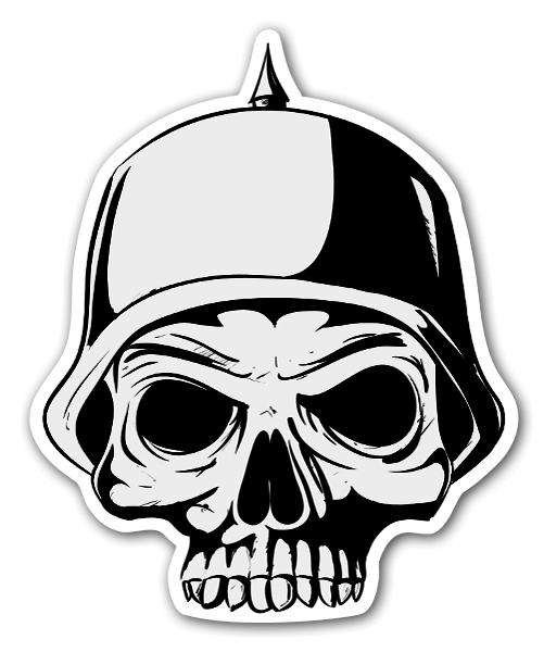 German skull sticker