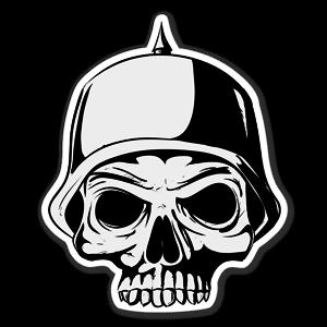 German skull sticker