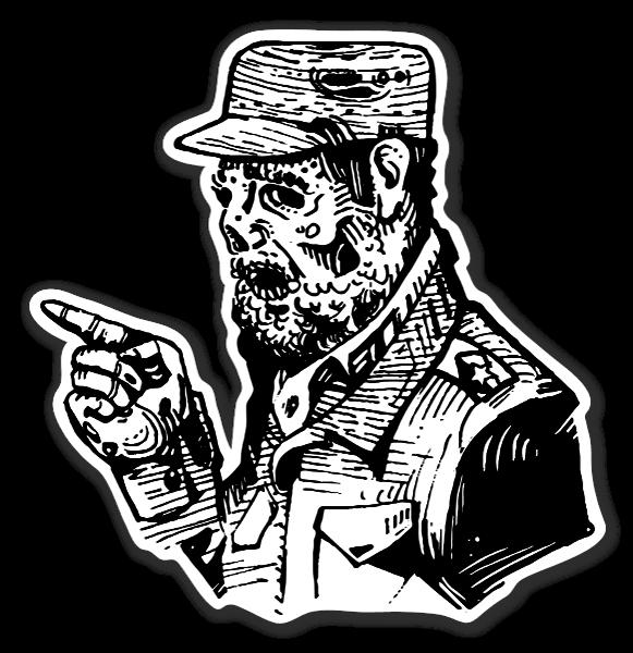 Fidel castro sticker