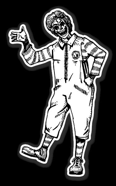 Mr Ronald McD kranium klistermærke sticker