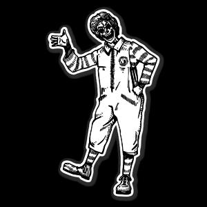 Mr Ronald McD Skull sticker