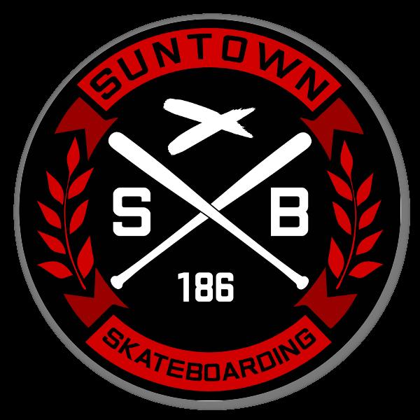 Suntown black Red Round Sticker