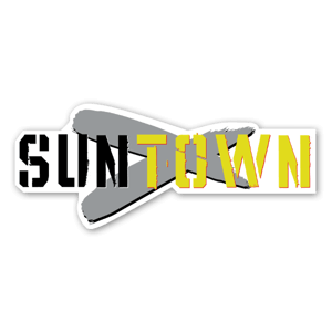 Suntown wide banner sticker