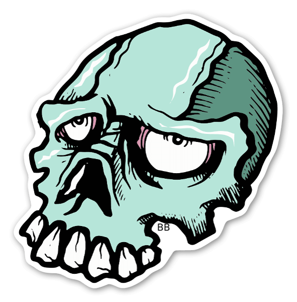 Indibone skull sticker
