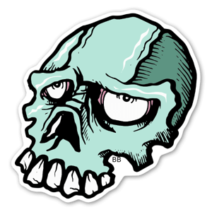 Bobby Indibone skull stickers labels decals