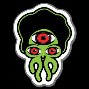 Artist Grimm Triclops sticker