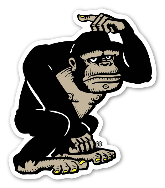Bobby Ape Sticker