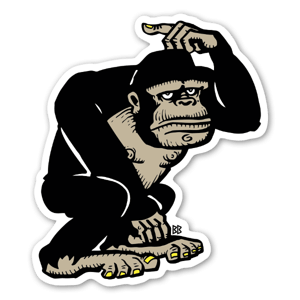 Svart Gorilla klistremerker