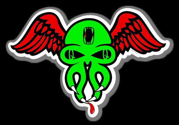 Grøn Skullywing sticker