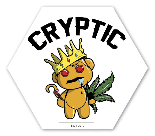 Cryptic Mindz Golden Stoner sticker