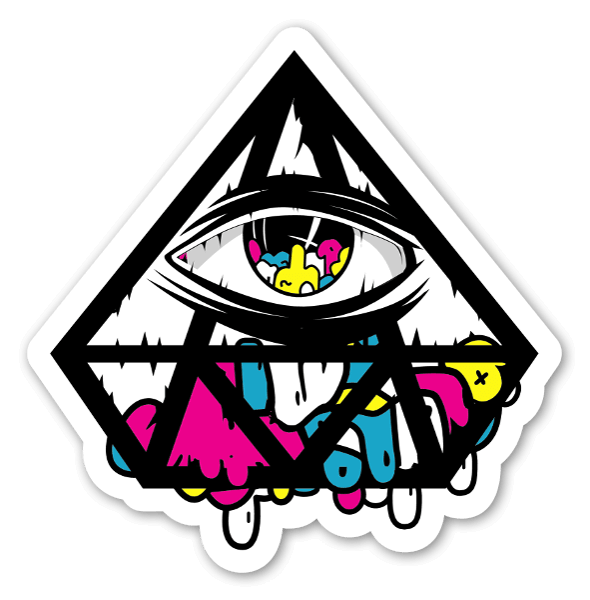 Diamond eye sticker