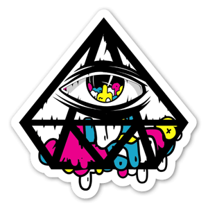 Jerkface Diamond Eye sticker