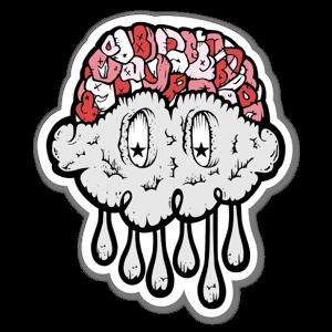 Jerkface Brain Cloud sticker