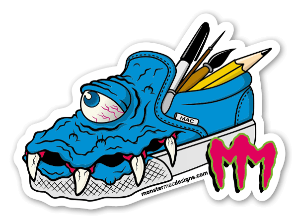MonsterMac temp sticker