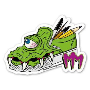MonsterMac Green sticker