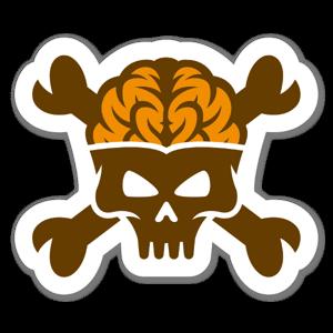 Danger Brain sticker